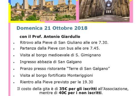 Gita a San Galgano, prenotazioni entro il 12 ottobre